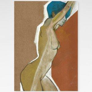 Obra Cabelos Azuis Fine Art exclusiva da Céu Galeria de Arte